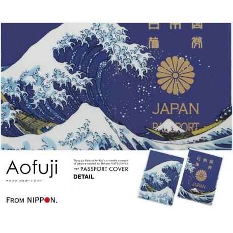 日本風 Passport 保護套 (神奈川沖浪裏)